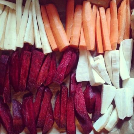 Păstârnac, morcovi, țelină și sfeclă roșie