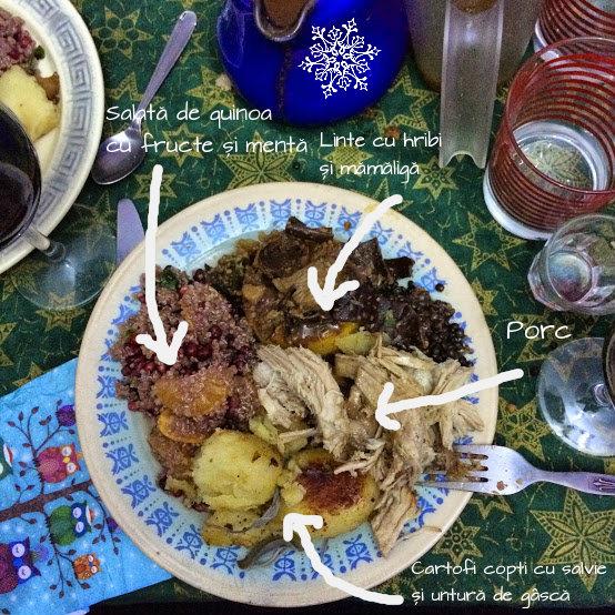 Salată de cușcuș/quinoa cu fructe șimentă