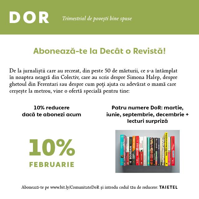Campanie DoR Coduri reducere8